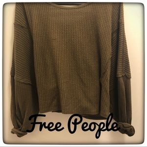 🔥Free People - We The Free Waffle/Thermal Top🔥